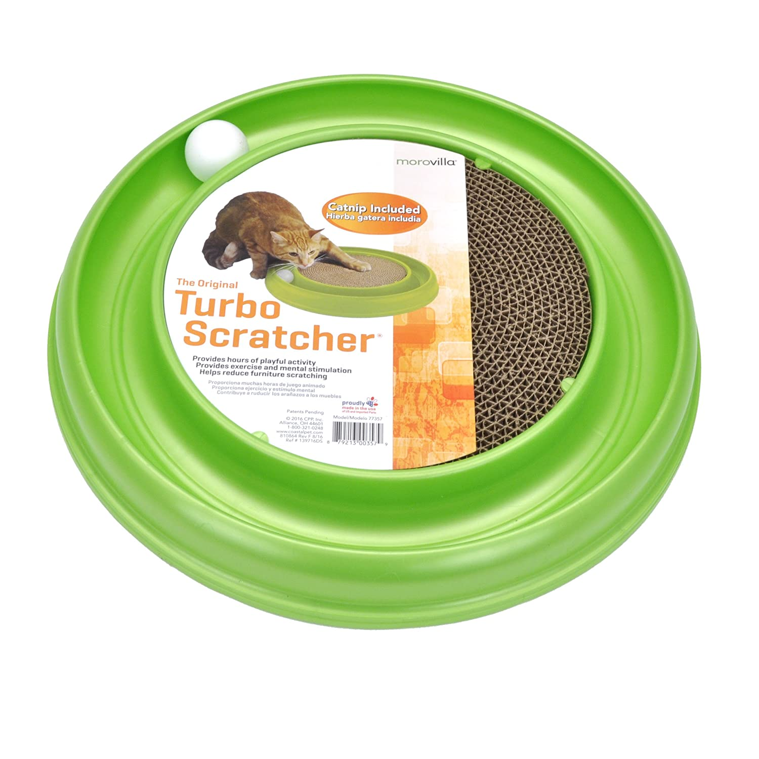 Amazon.com : Morovilla Turbo Scratcher Interactive Cat Toy And Scratcher : Pet Supplies