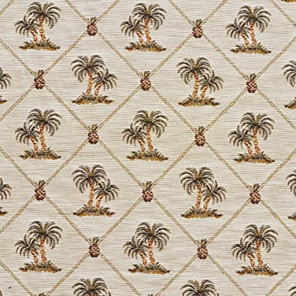 Amazon Com Beige And Green Tropical Pineapple And Palm Tree Island