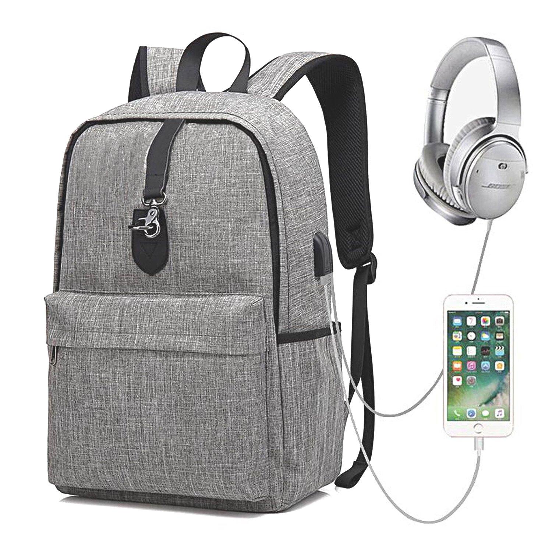 GEARGO Mochila para Portá til DE 15.6 Pulgadas Backpack Impermeable Anti-Robo Mochila Casual con Puerto de Carga USB para Hombre y Mujer Estudiante