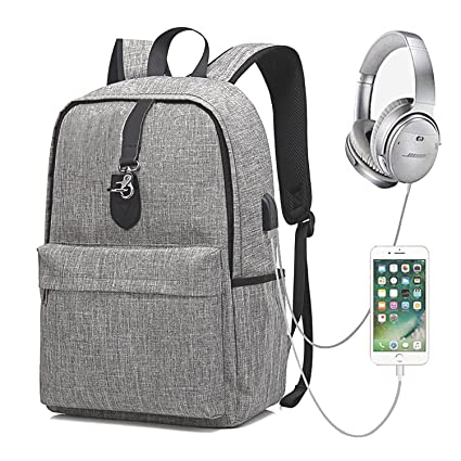 GEARGO Mochila para Portátil de 15.6 Pulgadas Backpack Impermeable Anti-Robo Mochila Casual con Puerto