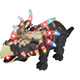 CifToys Triceratops Dinosaur Walking Dinosaur Toys for Kids Toy. Moving Roaring Sounds Jurassic. Light Up Toy Dino Figure