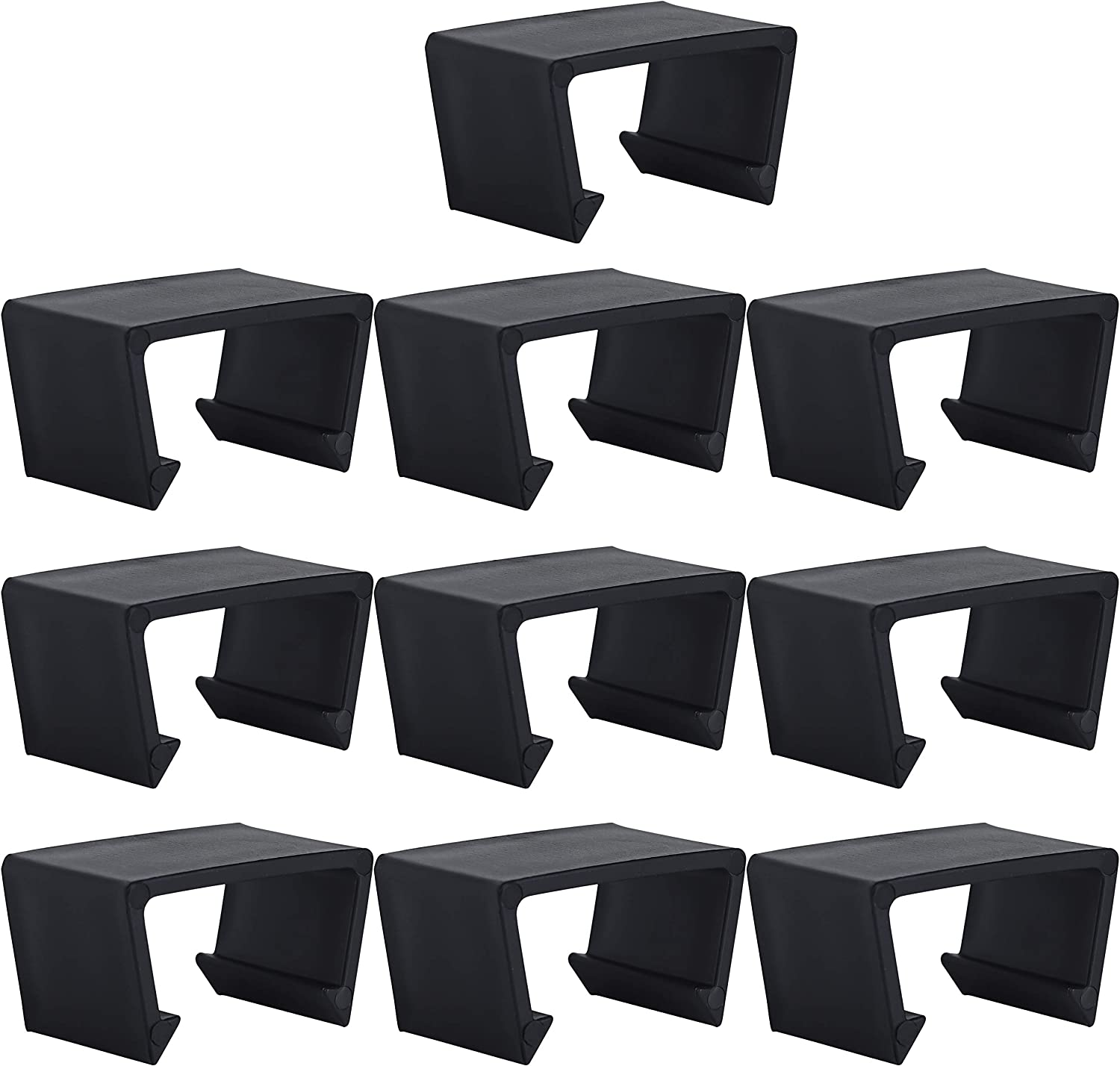 Kuhome Black Sofa Connect Clamps for Patio Sectional Sofa Outdoor Wicker Chair Sofa Alignment Fasteners Clips Connector Module Couch Patio Rattan Furniture (10pcs)