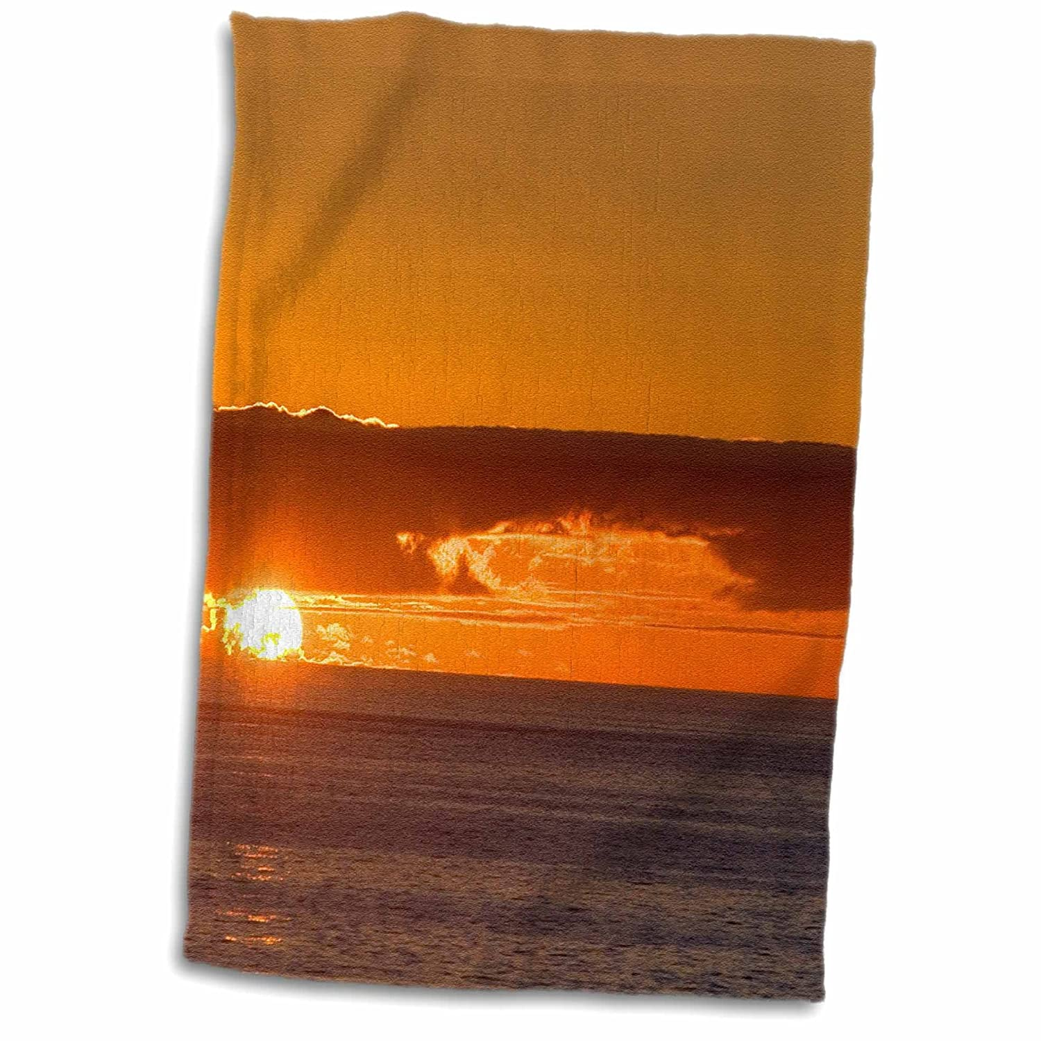 Frazier Hand//Sports Towel 15 x 22 3D Rose Sunset On Pacific Ocean-Valparaiso-Chile-Sa05 Dfr0091-David R
