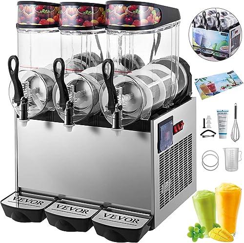 VEVOR 110V Slushy Machine 12Lx3 Bowl Frozen Drink 900W Margarita Maker