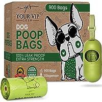 YOUR VIP SKIN - 900 Biodegradowalnych toreb dla psa z dozownikiem na prezenty. 60 rolek po 15 ekologicznych toreb 40…
