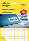 Avery Zweckform Lot de 3712 étiquettes autocollantes multi-usages 13 x 8 mm (Import Allemagne)