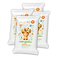 4-Pack Babyganics Alcohol-Free Hand Sanitizing Wipe 20 Count Deals