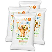 4 Pack Babyganics Alcohol-Free Hand Sanitizing Wipe (20 Count)