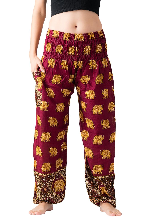 Bangkokpants Women's Harem Pants Bohemian Clothes Boho Yoga Hippie Pants Smocked Waist