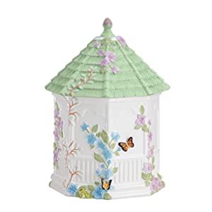 Lenox Butterfly Meadow Figural Gazebo Cookie Jar, 10-Inch, White - 827665