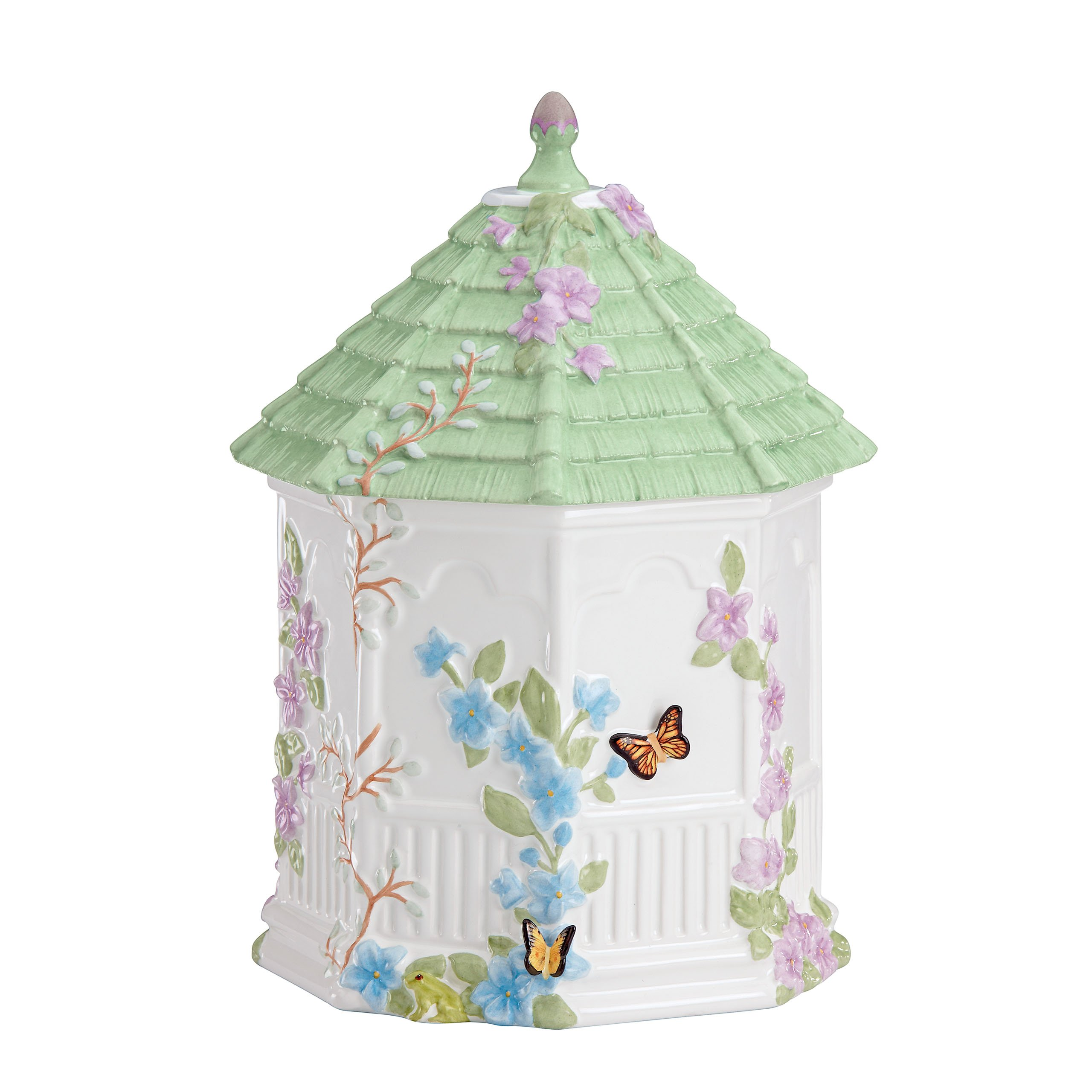 Lenox Butterfly Meadow Figural Gazebo Cookie Jar, 10-Inch