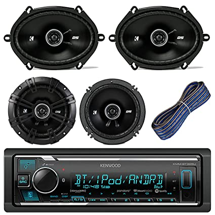 Car Audio System >> Kenwood Car Stereo Receiver With Bluetooth Usb Aux Am Fm Bundle Kit With 2 Kicker 41dsc684 6x8 Car Audio Speakers 2 Kicker Dsc654 6 5 Speaker