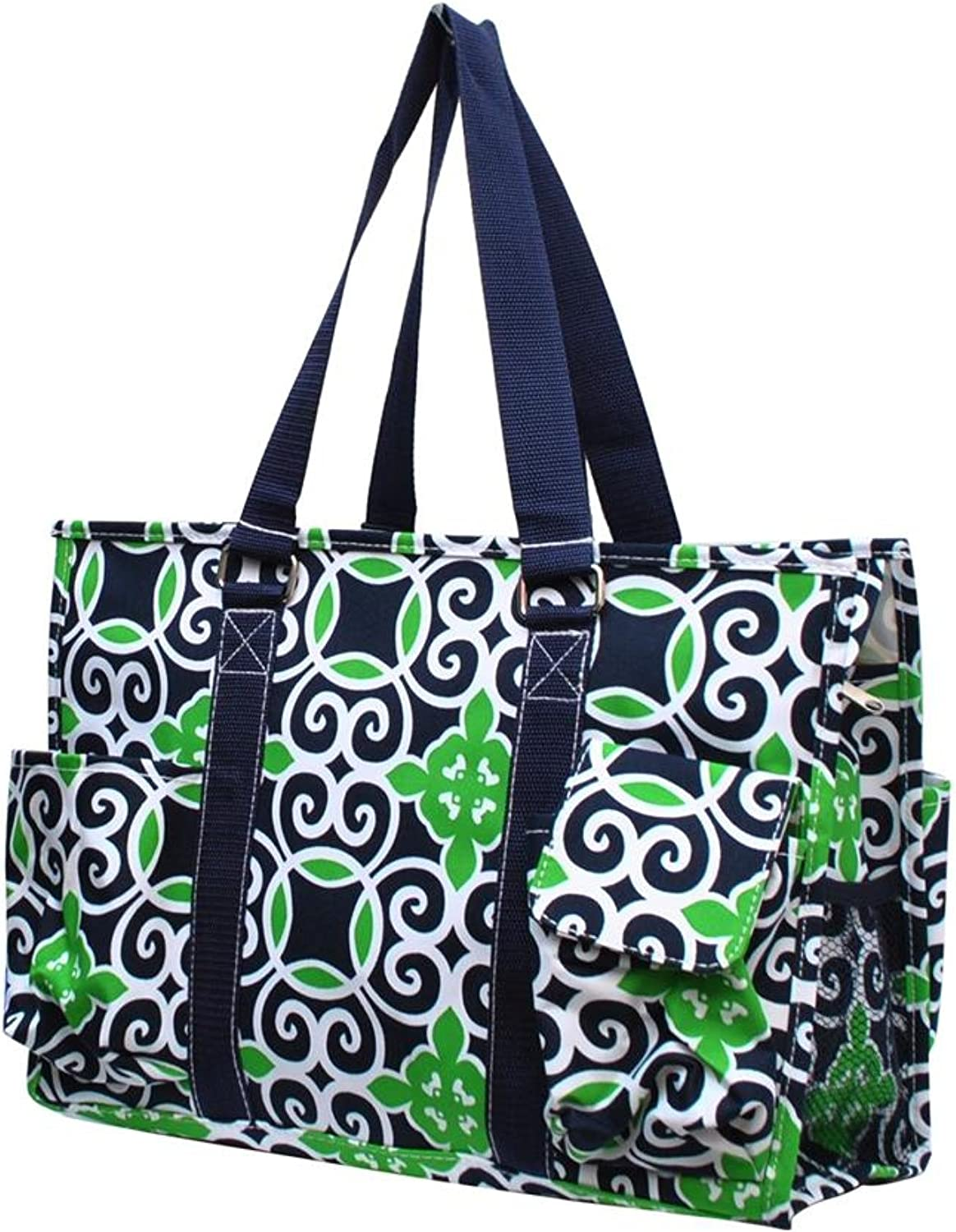 Ocean Themed Prints NGIL Travel Caddy Organizer Tote Bag (Geometric Sailor Print)