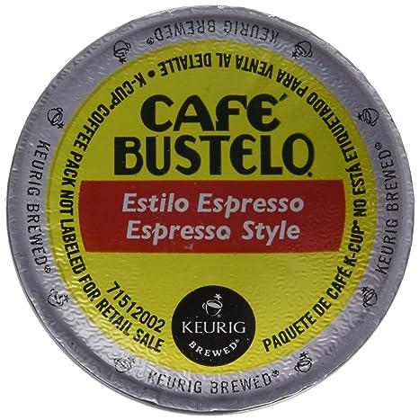 Keurig Cafe Bustelo Coffee Espresso K-Cups Cuban (18 count) (8 Packs): Amazon.com: Grocery & Gourmet Food