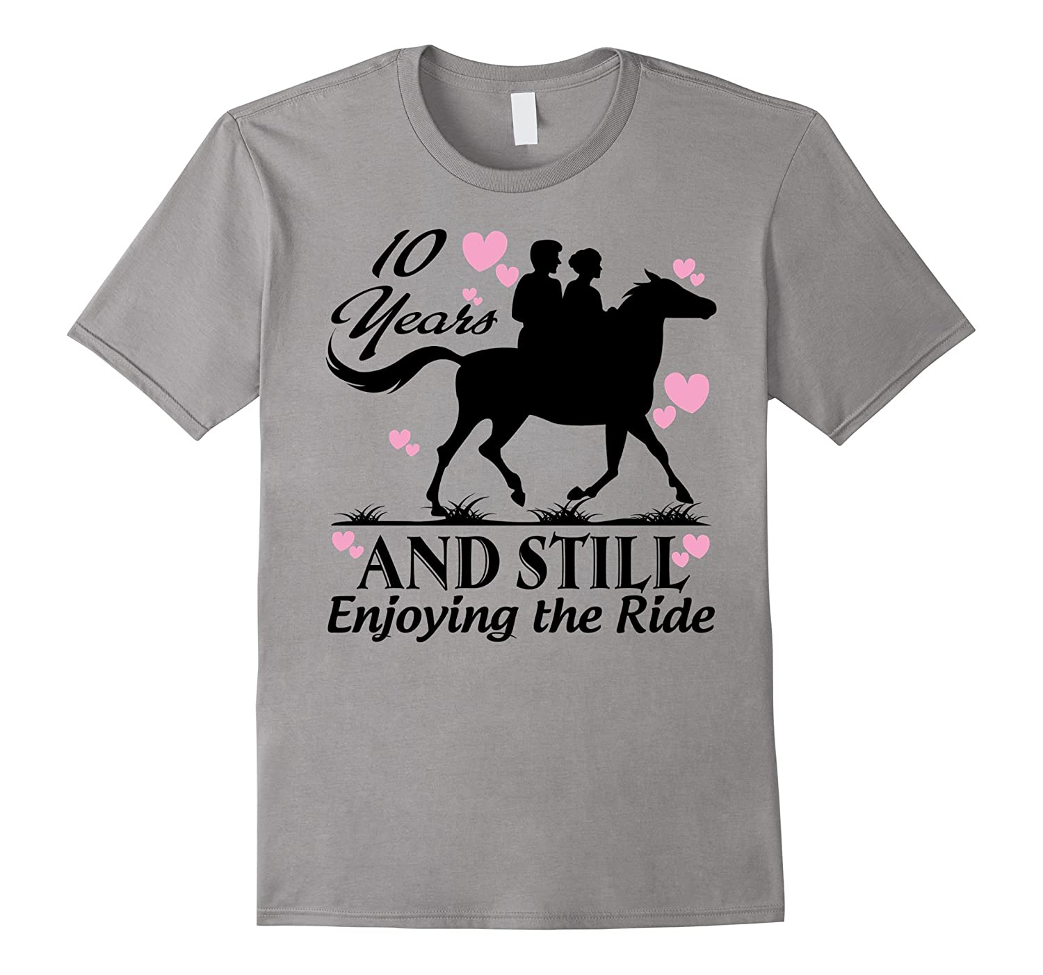 10th Wedding Anniversary Gifts Shirt - Horse Lover Shirt-T-Shirt