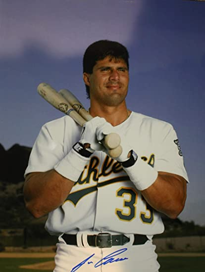 size 40 44e1c ee6ab Autographed Jose Canseco Oakland A's 11X14 photo - COA at ...