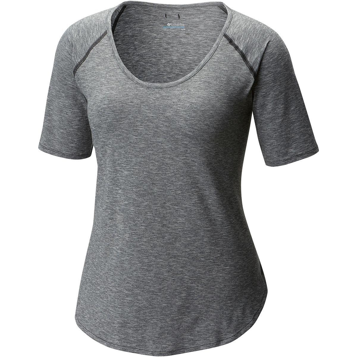 (コロンビア) Columbia Wander More Short-Sleeve T-Shirt レディース シャツトップスBlack Heather [並行輸入品] S Black Heather B079PPJP5N