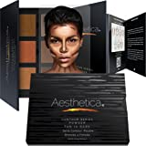 Aesthetica Contour Series - Tan to Dark Powder Contour Kit / Contouring and Highlighting Makeup Palette; Vegan and Cruelty Free - Easy-to-Follow Step-by-Step Instructions Included