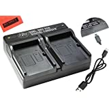 NP-BX1 Dual Rapid Battery Charger for Sony CyberShot DSC-RX1 DSC-RX1R DSC-RX100 DSC-RX100M II DSC-RX100 III DSC-H300 DSC-H400 DSC-HX300 DSC-HX50V DSC-HX80V DSC-WX300 DSC-WX350 HDR-AS10 HDR-AS15 HDR-AS30V HDR-AS100V HDR-AS100VR HDR-CX240 HDR-PJ275 HDR-MV1 Digital Camera
