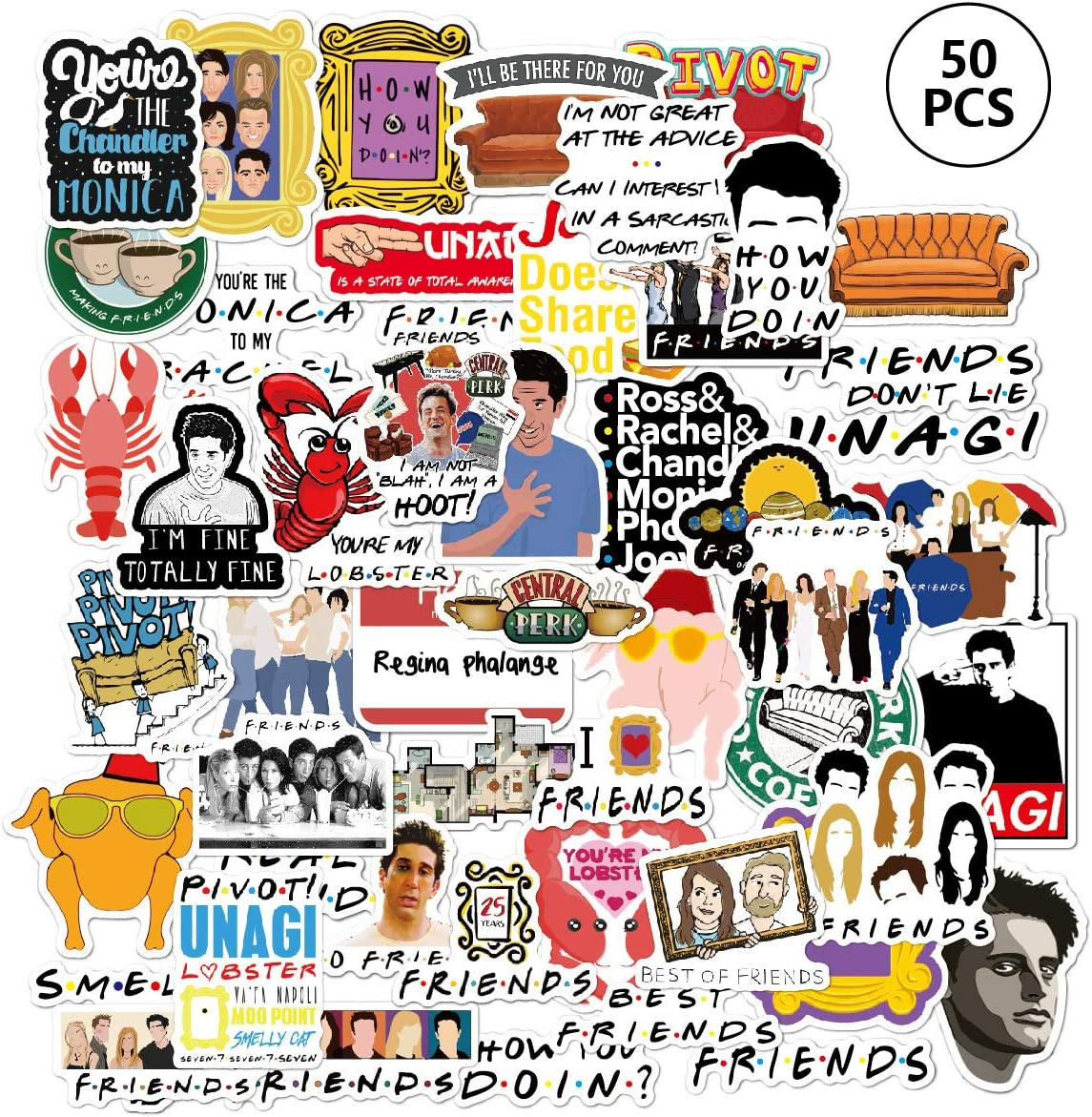 GINKO 50Pcs Outer Banks Friends Offices Vinyls Stickers Laptop Sticker Waterproof Stickers Luggage Skateboard Water Bottle Stickers Decal Bicycle Bumper Snowboard Decorate Gift for Kid Bigbang
