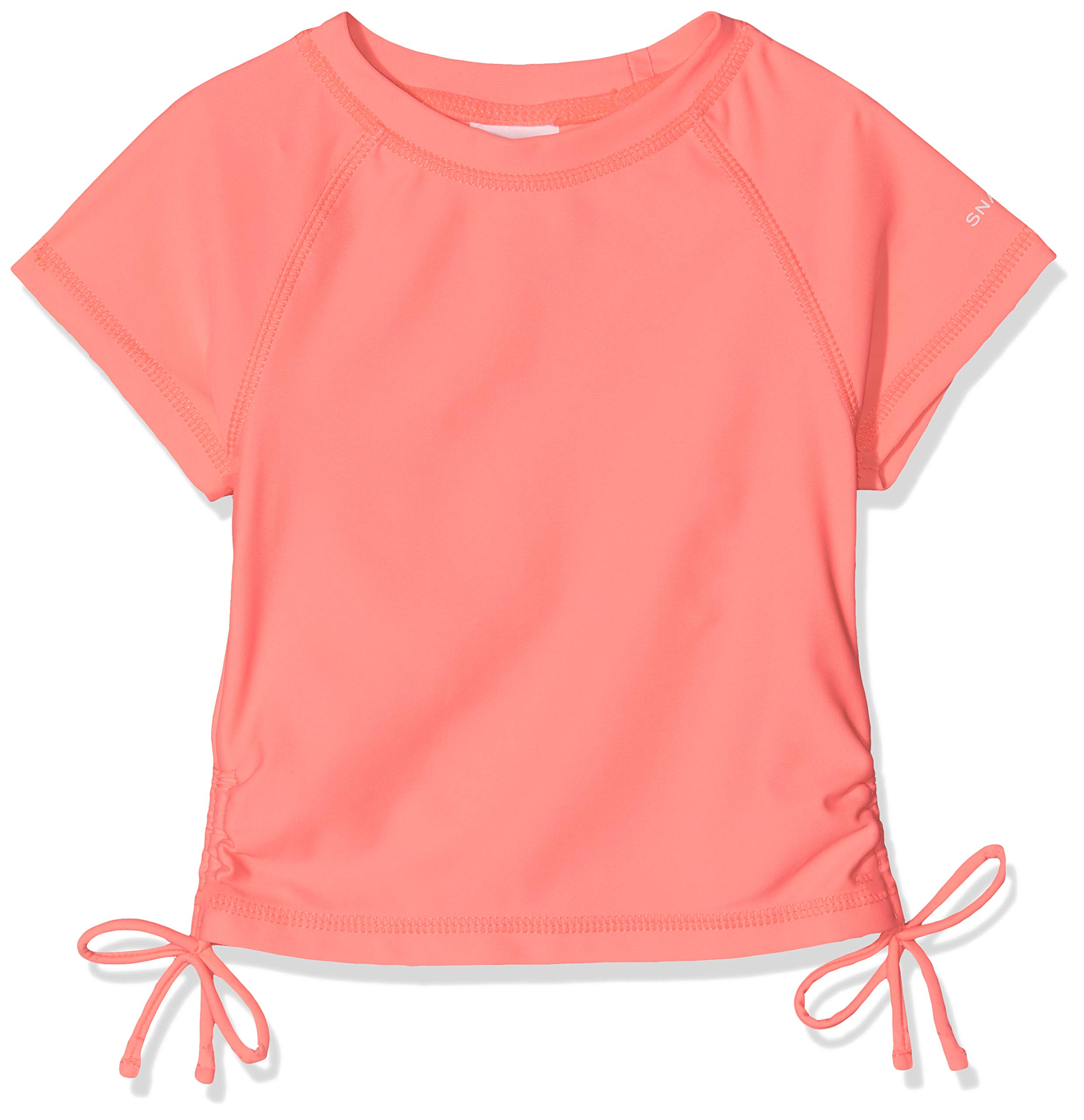 Snapper Rock Girls Short Sleeve Rash Top (Neon Coral, 2) by Snapper Rock