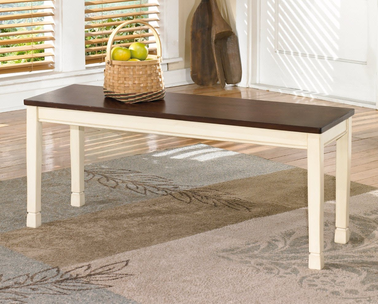Amazon ashley furniture signature design whitesburg large amazon ashley furniture signature design whitesburg large dining bench rectangular vintage casual browncottage white table benches geotapseo Image collections