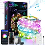 LED Indoor String Lights, 32.8FT Fairy String Lights, 132LED,with Music Mode Remote App Control RGB Color Changing Timer Comp