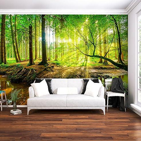Fototapete Wald 3D 400x280 cm XXL | VLIES TAPETE - Moderne ...