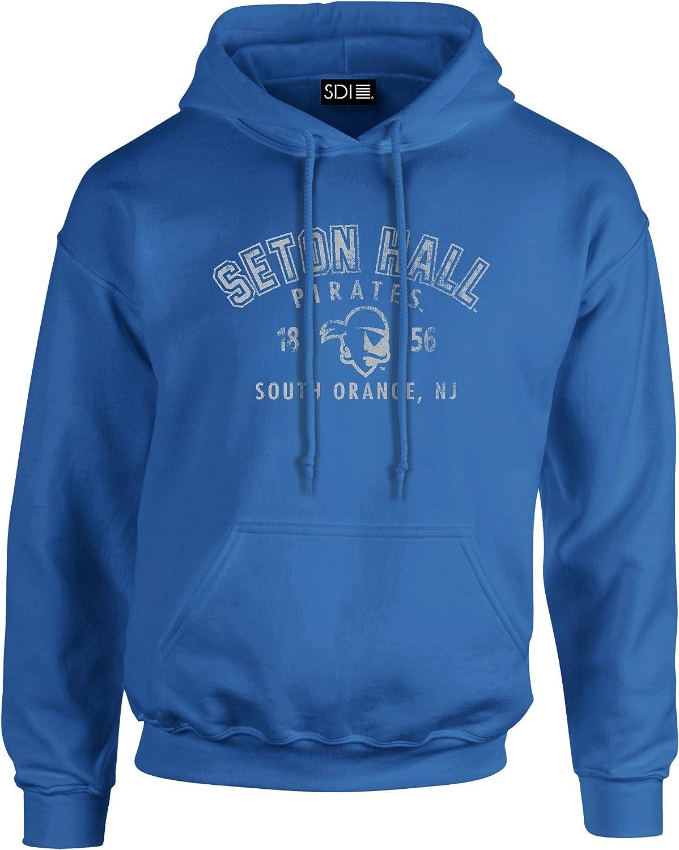 Seton Hall Pirates 50//50 Blended 8 oz Hooded Sweatshirt