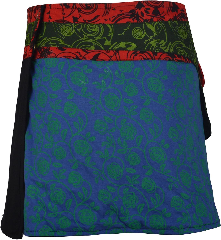 TATTOPANI Ropa de Mujer Multicolor Dan la Vuelta Falda Hippy ...
