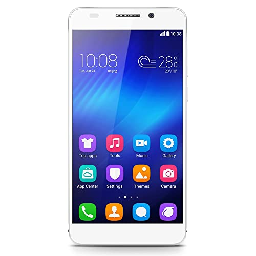 Honor 6 4G UK Smartphone (5 inch, Touchscreen, Octa-Core, 3GB RAM, 16GB ROM, 13MP rear camera, 5MP front camera, LTE CAT6, Android 4.4, Emotion UI 2.3) White