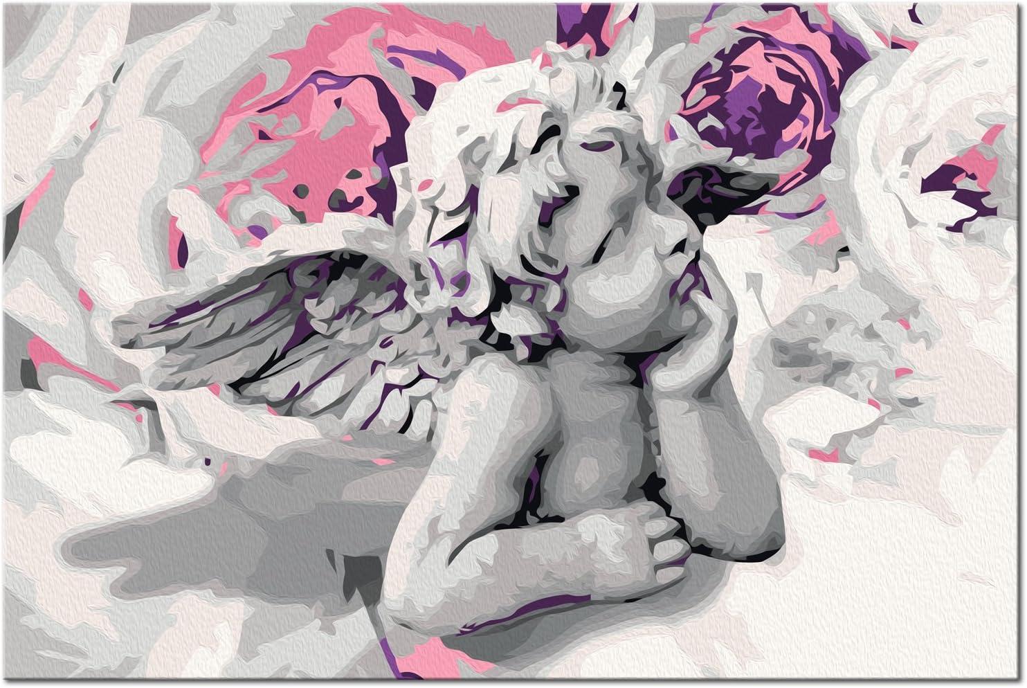 Lirio 60x40 cm n-A-0370-d-a murando Pintura por N/úmeros Cuadros de Colorear por N/úmeros Kit para Pintar en Lienzo con Marco DIY Bricolaje Adultos Ni/ños Decoracion de Pared Regalos DIY