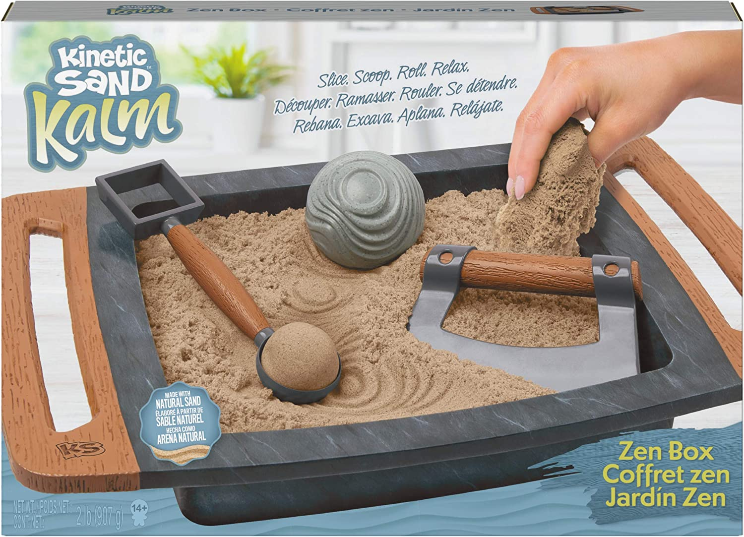 Kinetic Sand Kalm, Zen Box Set for Adults with 3 Tools for Relaxing Sensory Play