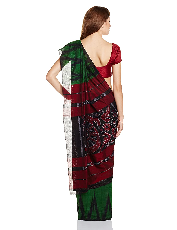 Green Nuapatna Cotton Handloom Saree