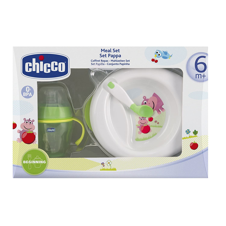 Chicco Coffret Repas 2013 Assiette Maintien au Chaud + Tasse Soft + Cuillère Coudée 6 Mois+ 00006832050000