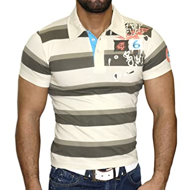 Rusty Neal Party Club Slim Fit Polo Style Hombre Camiseta de Manga ...