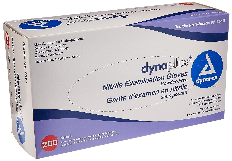Amazon.com: Dynarex Dynaplus Economy Nitrile Gloves, Small, 200 ...