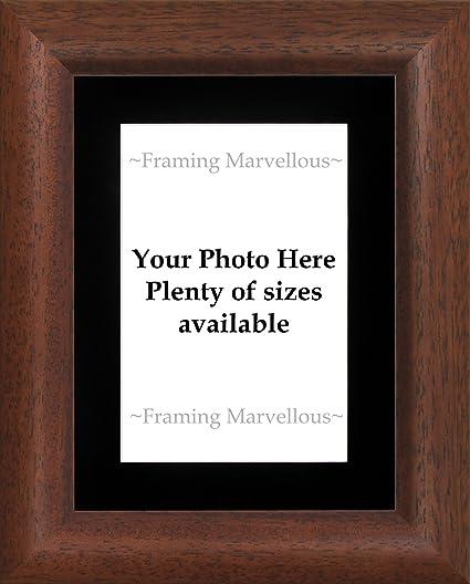 Amazon.com - Framing Marvellous Dark Wood Finish Photo Picture Frame ...