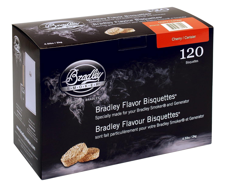 Bradley Smoker - Galletas con Aroma de Cereza para Ahumador de Alimentos, 120 unidades SportsCentre BTCH120