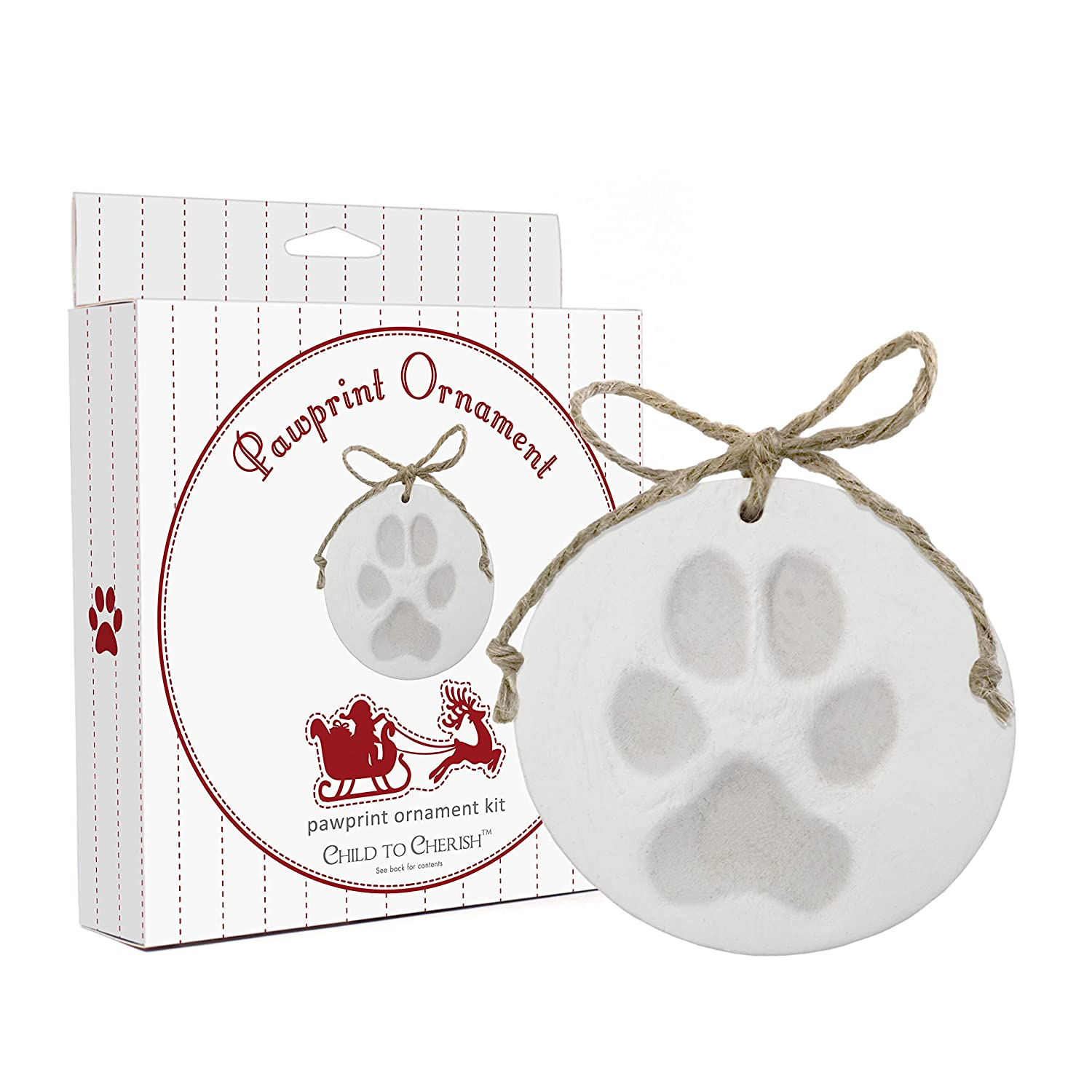 Child to Cherish Paw Print Pet Ornament Kit for Cats or Dogs