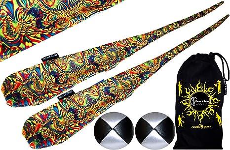 Flames N Games Funky® Pro Calcetines de cariocas (Aurora) Sock POI ...