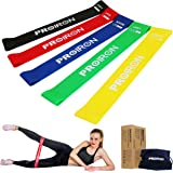 Resistance Loop Bands Exercise Bands Stretch Workout Fitness Bands Set of 5 for Yoga Pilates Physical Therapy Crossfit Rehab to Improve Mobility Strength Training