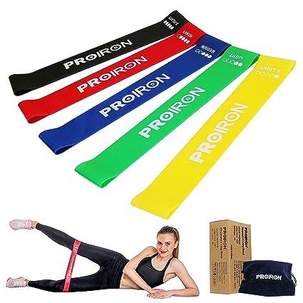 PROIRON Bandas Elásticas Bandas de Resistencia Fitness para Entrenar Piernas Glúteos Yoga Pilates Crossfit Fuerza para