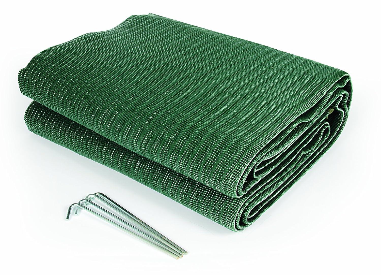 Camco 42880 Stuoia Reversibile per Tendalino, 1.83 x 2.74 m, Verde