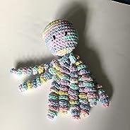 Crochet Octopus for Preemies, Crochet Octopus for Babies in Variegated Light Blue, Pink and Yellow, Crochet Amigurumi