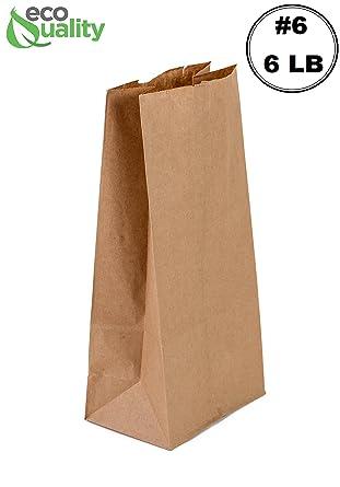 Amazon.com: EcoQuality 1000 Bolsa de papel kraft marrón ...