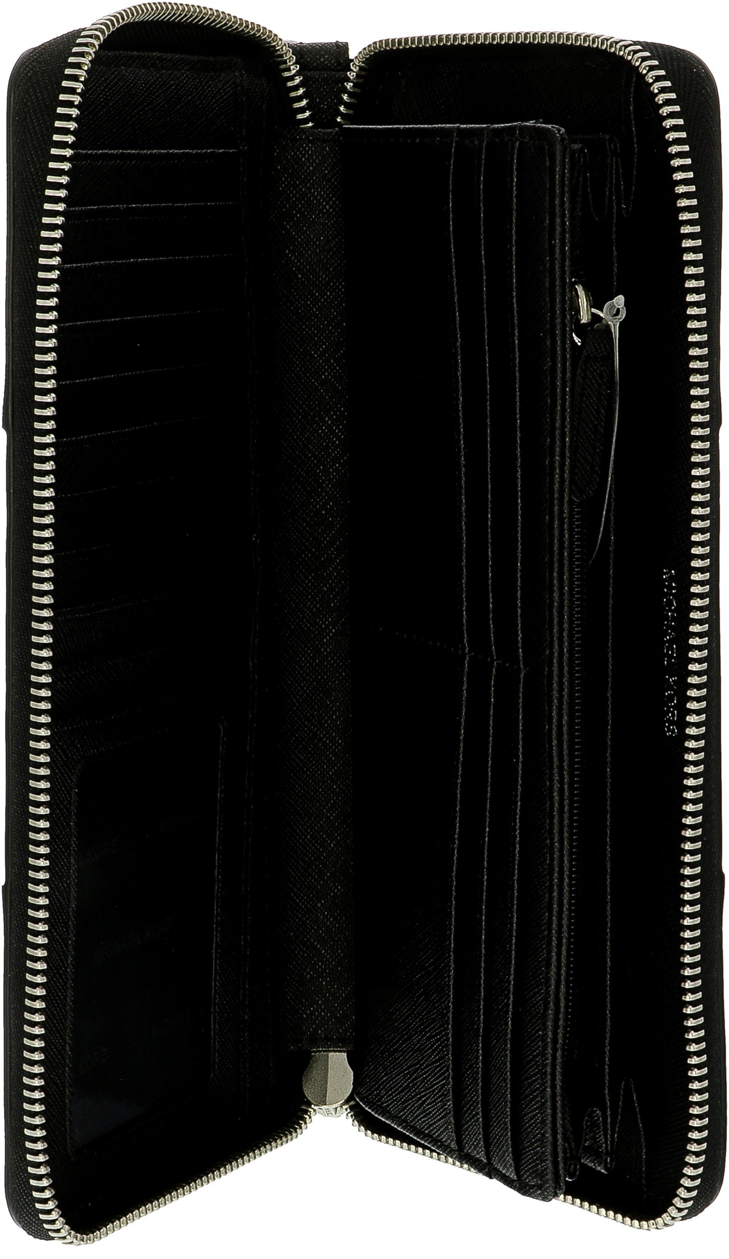 Michael Kors Money Pieces Travel Continental Wallet Black Leather by Michael Kors (Image #4)