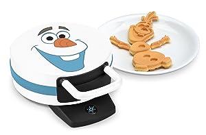 "Disney DFR-15 Olaf Waffle Maker, 12""x5""x9"" White"