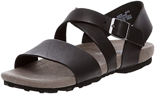herir medios de comunicación Planta  Timberland Men's Black Leather Sandals and Floaters - 7.5 UK: Buy Online at  Low Prices in India - Amazon.in