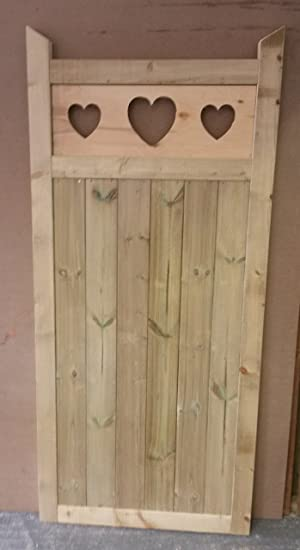 Wooden Garden Gate Made To Measure Bespoke Gates Heart Gate (91cm (W) X